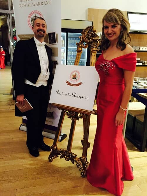 Royal Warrant Holders Dinner: Red Ball Gown, Fishtail Skirt