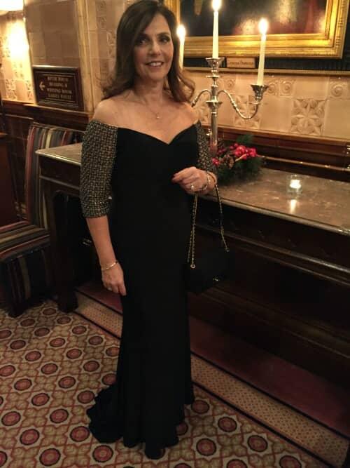 Black Tie Christmas: Off The Shoulder Evening Dress, Sweetheart Neckline