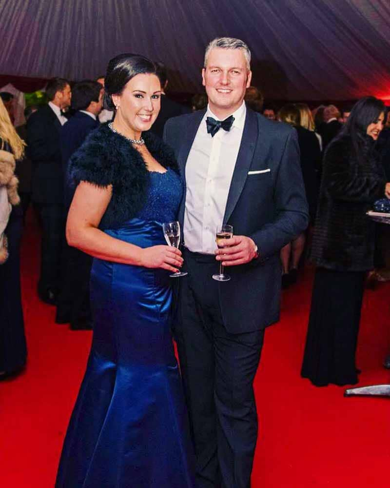 Royal Blue Trumpet Evening Dress for Hunt Ball