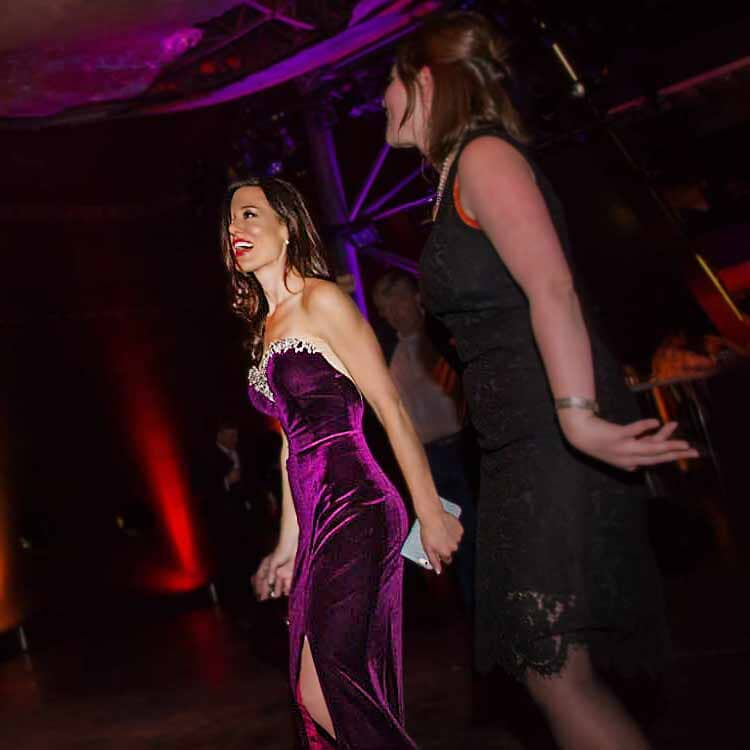 A favourite seasonal dress: purple 'Jessica Rabbit' velvet strapless evening gown, low-back, sweetheart neckline full with diamond encrusted beads.